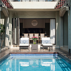 Pool Deck Area by Tru Interiors Country