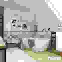Schöne Moderne Badezimmer Industriale Badezimmer von MIKOLAJSKAstudio Industrial