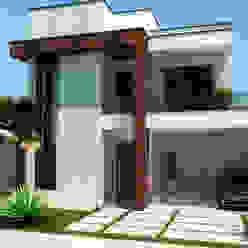 Sobrado Moderno e Aconchegante: Casas  por ADRIANA MELLO ARQUITETURA,Moderno