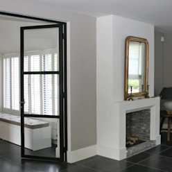 Openhaard. Moderne woonkamers van Doreth Eijkens | Interieur Architectuur Modern