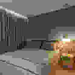 Suíte Botti Arquitetura e Interiores-Natália Botelho Quartos modernos MDF Azul