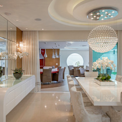 Casa Indaiatuba Salas de jantar modernas por Designer de Interiores e Paisagista Iara Kílaris Moderno