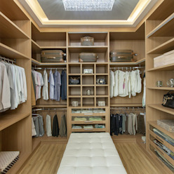 Modern dressing room by Designer de Interiores e Paisagista Iara Kílaris Modern Wood Wood effect