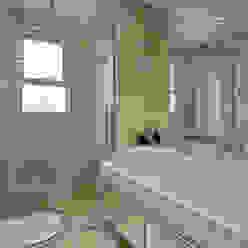 Apartamento Jundiaí Designer de Interiores e Paisagista Iara Kílaris Banheiros modernos Mármore Bege