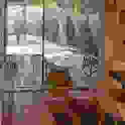 acceso a ampliación subterránea Pasillos, vestíbulos y escaleras modernos de Thomas Löwenstein arquitecto Moderno Vidrio