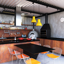 GOURMET + ATELIER Macro Arquitetos Cozinhas modernas