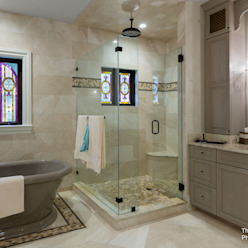 The Fechtel Company - Gothic Revival - Interior 11 Moderne Badezimmer von Chibi Moku Modern Beton