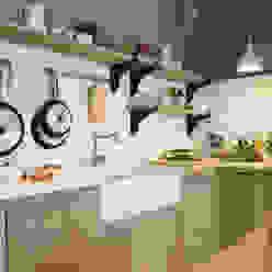 Cozinhas rústicas por DEULONDER arquitectura domestica Rústico Madeira Efeito de madeira