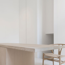 Jen Alkema architect Minimalst style study/office
