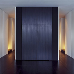 Living Room - Audio Cabinet:  Woonkamer door Jen Alkema architect, Minimalistisch Massief hout Bont