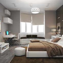 Apartment in a modern style in Moscow Design studio by Anastasia Kovalchuk Modern Bedroom