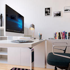 Moradia unifamiliar - Tipologia T4 Esboçosigma, Lda Espaços de trabalho minimalistas