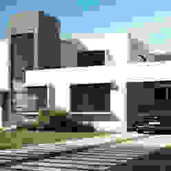 homify Mediterranean style house Bricks White