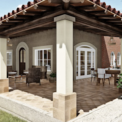 Rustic style house by IAD Arqutiectura Rustic Tiles