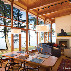 Open Floor Plan Living Room Modern Living Room by Helliwell + Smith • Blue Sky Architecture Modern