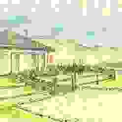 Vista del frente Jardines rurales de Pell Paisajismo Rural