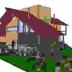 A+R arquitetura Casas unifamiliares Ladrillos Beige