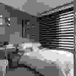 [HOME] Ciid Design - Haihua Model House 러스틱스타일 침실 by KD Panels 러스틱 (Rustic) 우드 우드 그레인