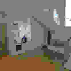 The Spacealist - Arquitectura e Interiores Modern corridor, hallway & stairs White