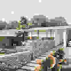 by ARQUITECTOS URBANISTAS A+U Modern Bricks