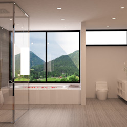 Minimalist style bathroom by okull creativo Minimalist