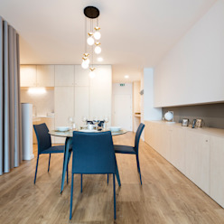 Abbey Apartment Salas de jantar minimalistas por Paulo Vale Afonso Architecture Studio Minimalista