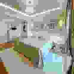 Villa Olivia, una residenza di lusso con vista mozzafiato sull'Egeo e spiaggia privata Studio D73 Camera da letto in stile mediterraneo