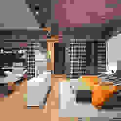 Гостевая спальня Спальня в стиле кантри от ARCHDUET&DA Кантри