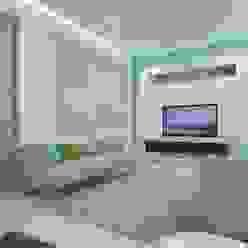 Drawing Room Ravi Prakash Architect Minimalist corridor, hallway & stairs Engineered Wood White