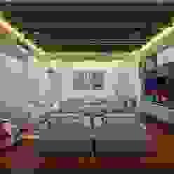 Living Room Ravi Prakash Architect Asian style living room Engineered Wood Multicolored