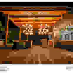 Casa Vista Lago: Terrazas de estilo  por Excelencia en Diseño