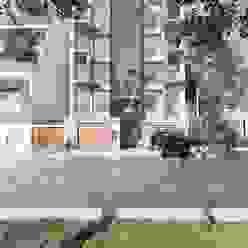 DISEÑO Y CONSTRUCCIÓN VIVIENDA MULTIFAMILIAR - SANTA VICTORIA - CHICLAYO CN y Arquitectos Edificios de oficinas Concreto reforzado Blanco