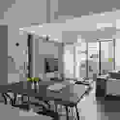 餐廳與客廳的關係 沐光植境設計事業 客廳 Blue