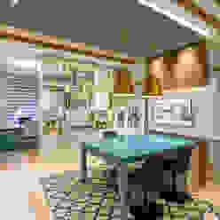 Escritório JA Juliana Agner Arquitetura e Interiores Edifícios comerciais modernos Azul