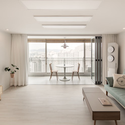Minimalistische Wohnzimmer von 봄디자인 Minimalistisch
