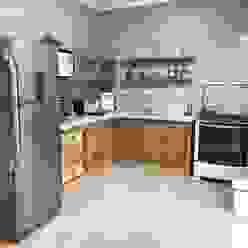 Cozinha rústica Cozinhas rústicas por Pedro Aguiar Arquitetura + Obra Rústico