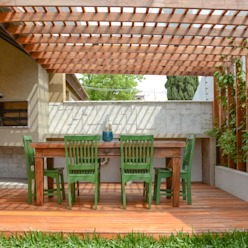 Jardines eclécticos de Bloco Z Arquitetura Ecléctico