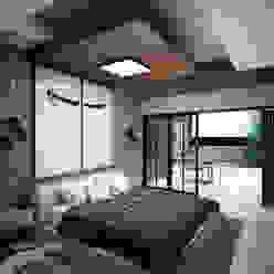 Recamara Tipo Grupo ARK Dormitorios minimalistas Tablero DM Marrón