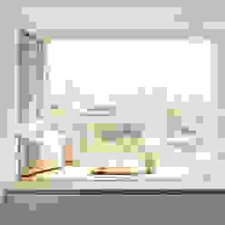 文儀室內裝修設計有限公司 Balcon, Veranda & Terrasse minimalistes