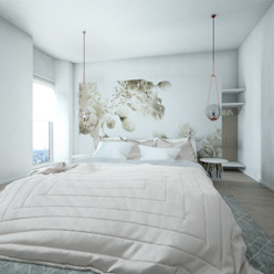 Camera da letto Silvana Barbato Camera da letto moderna Bianco