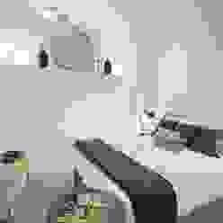 camera da letto Costa Zanibelli associati Camera da letto moderna Pietra Bianco
