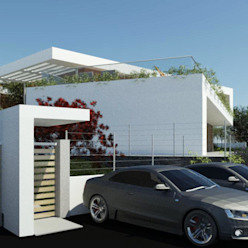 Vista Ingresso inferiore Ing. Massimiliano Lusetti Case in stile minimalista