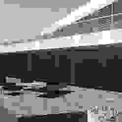 patio esterno zona living Ing. Massimiliano Lusetti Case in stile minimalista