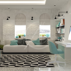 Modern Bedrooms Interior Design by Comelite Architecture, Structure and Interior Design Modern Bricks