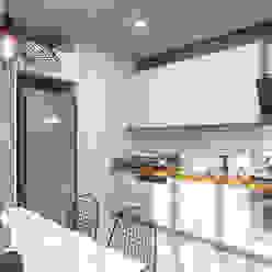 Aydınlatma ANTE MİMARLIK Mutfak üniteleri Beyaz