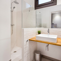 Baño con ducha La Casa Marta Baños de estilo moderno
