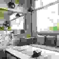 Air bnb C-scheme Jaipur flamingo architects Modern living room