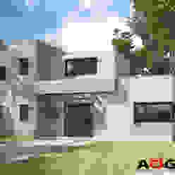 CASA JD AOG Casas unifamiliares Ladrillos Blanco