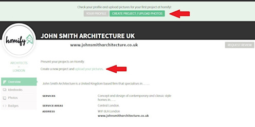 5. How do I create my first project? homify UK