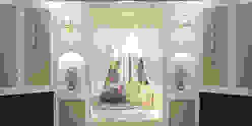 читальное ложе в круглом балконе. Nada-Design Студия дизайна. Балкон и терраса в классическом стиле